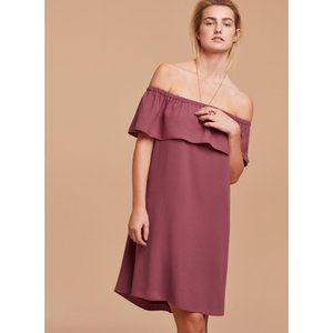 Aritzia Wilfred Neuchatel Off-The-Shoulder Dress
